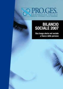 Bilancio Sociale 2007 Proges, Io Sono Socio Proges